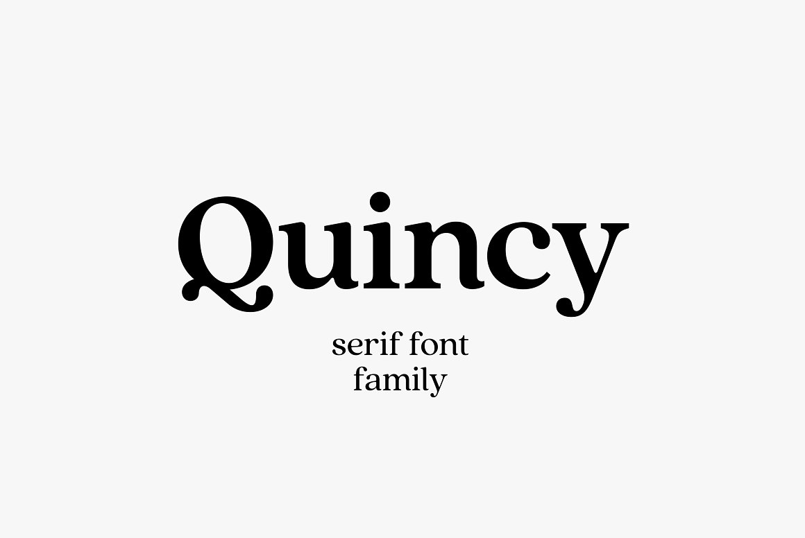 quincy font family