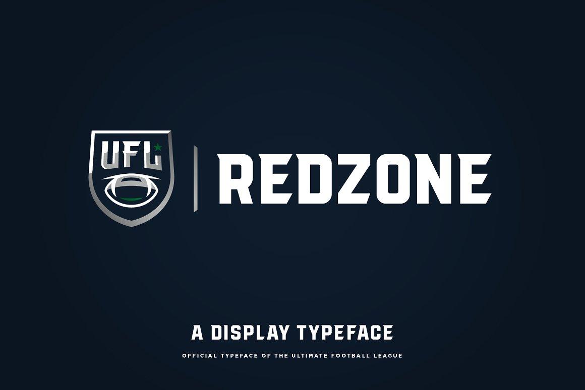 redzone display typeface