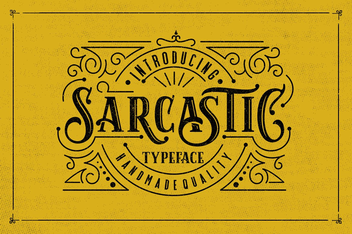 sarcastic typeface