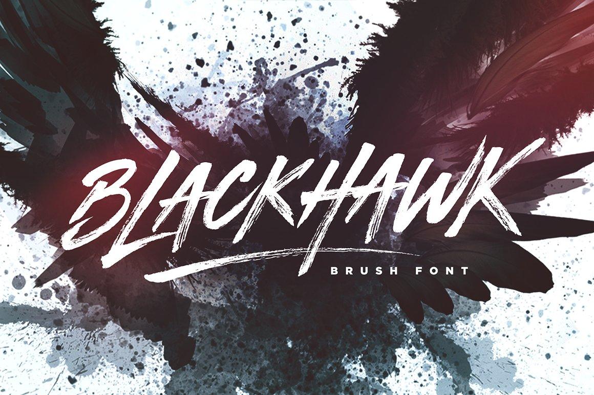blackhawk brush font