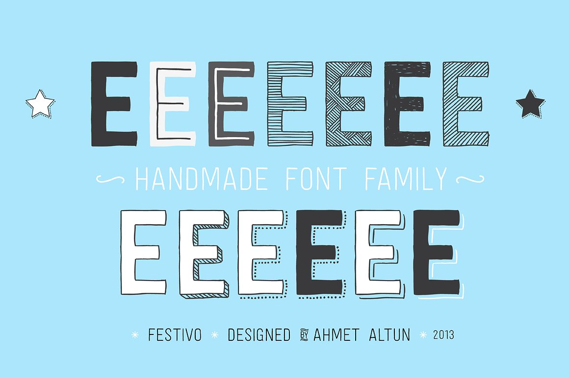 festivo letters typeface