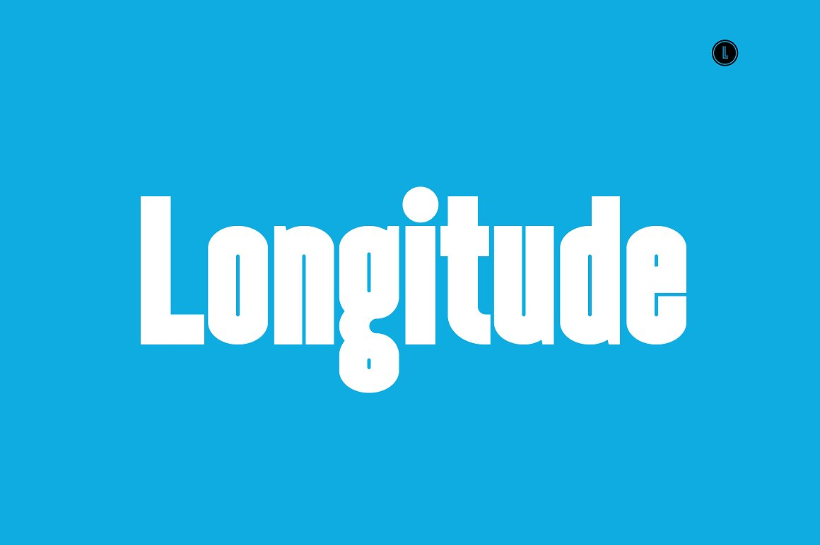 longitude condensed font