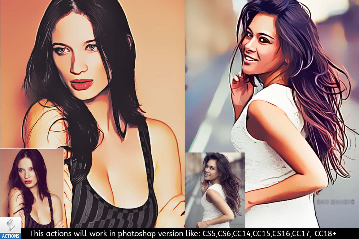 painting photoshop effects actions