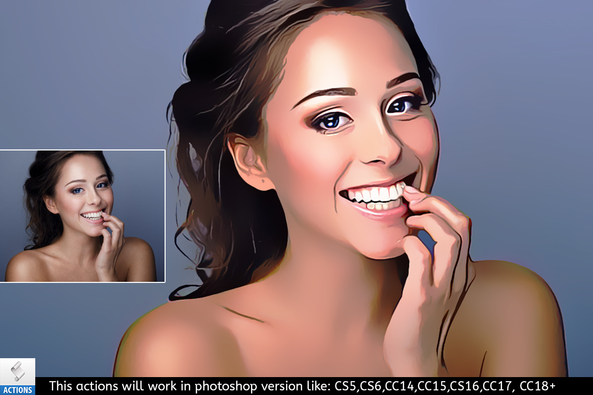 beauty retouching paint effect