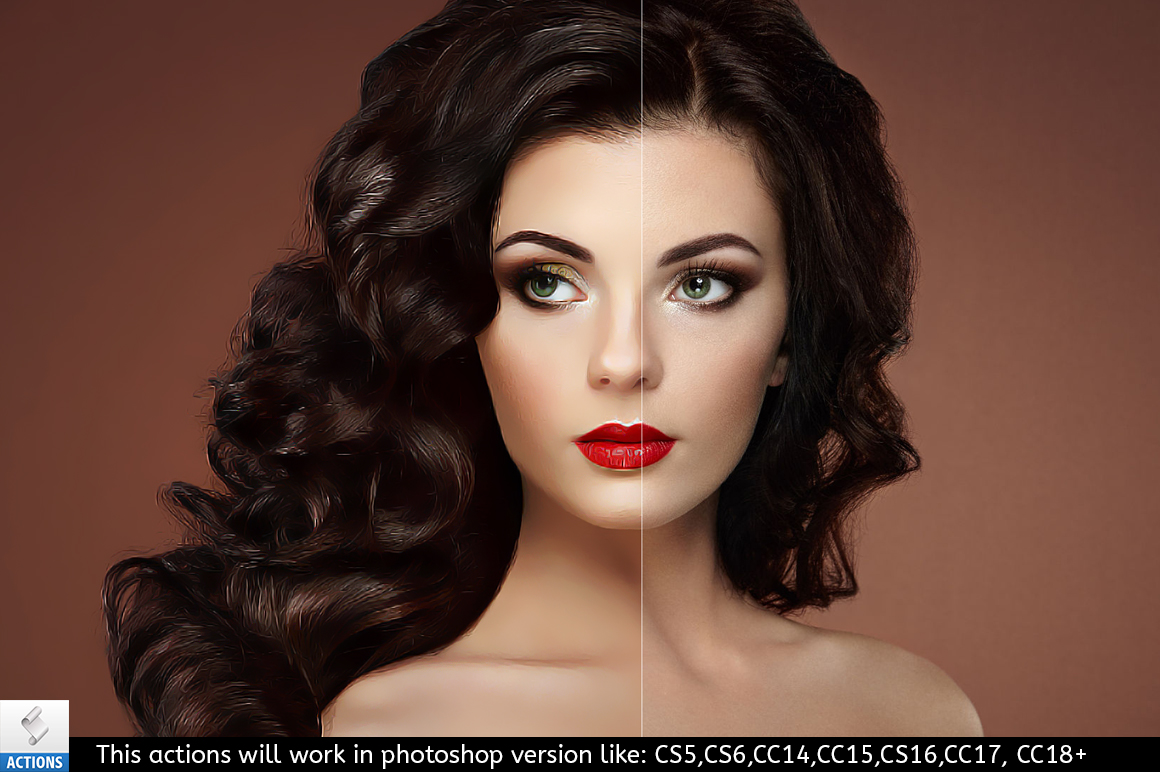 beauty retouching paint photoshop
