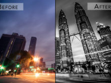 b&w street effect