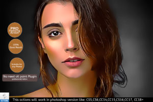 portrait painting actions