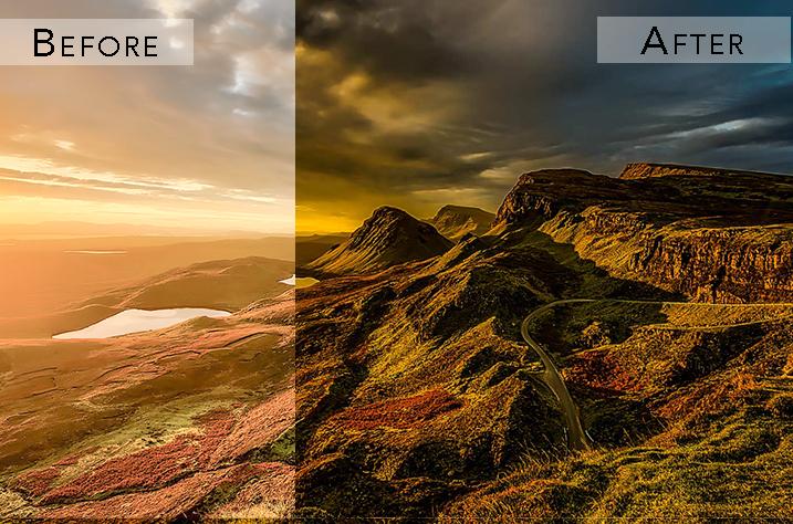 intense hdr landscape effects