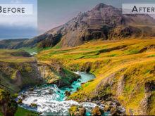 colorful landscape effects