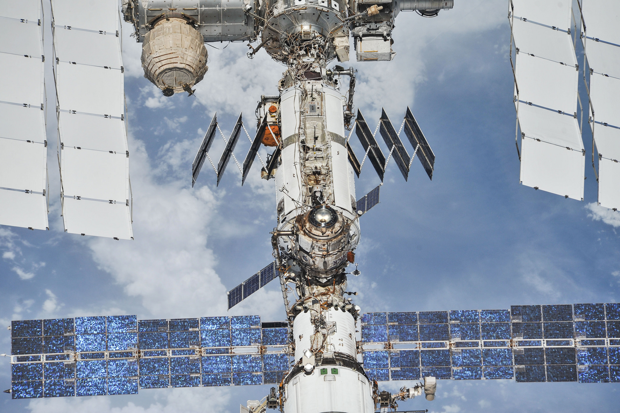 ISS photos by NASA and Roscosmos