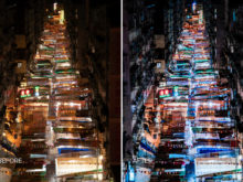 urban nighttime photography hong kong