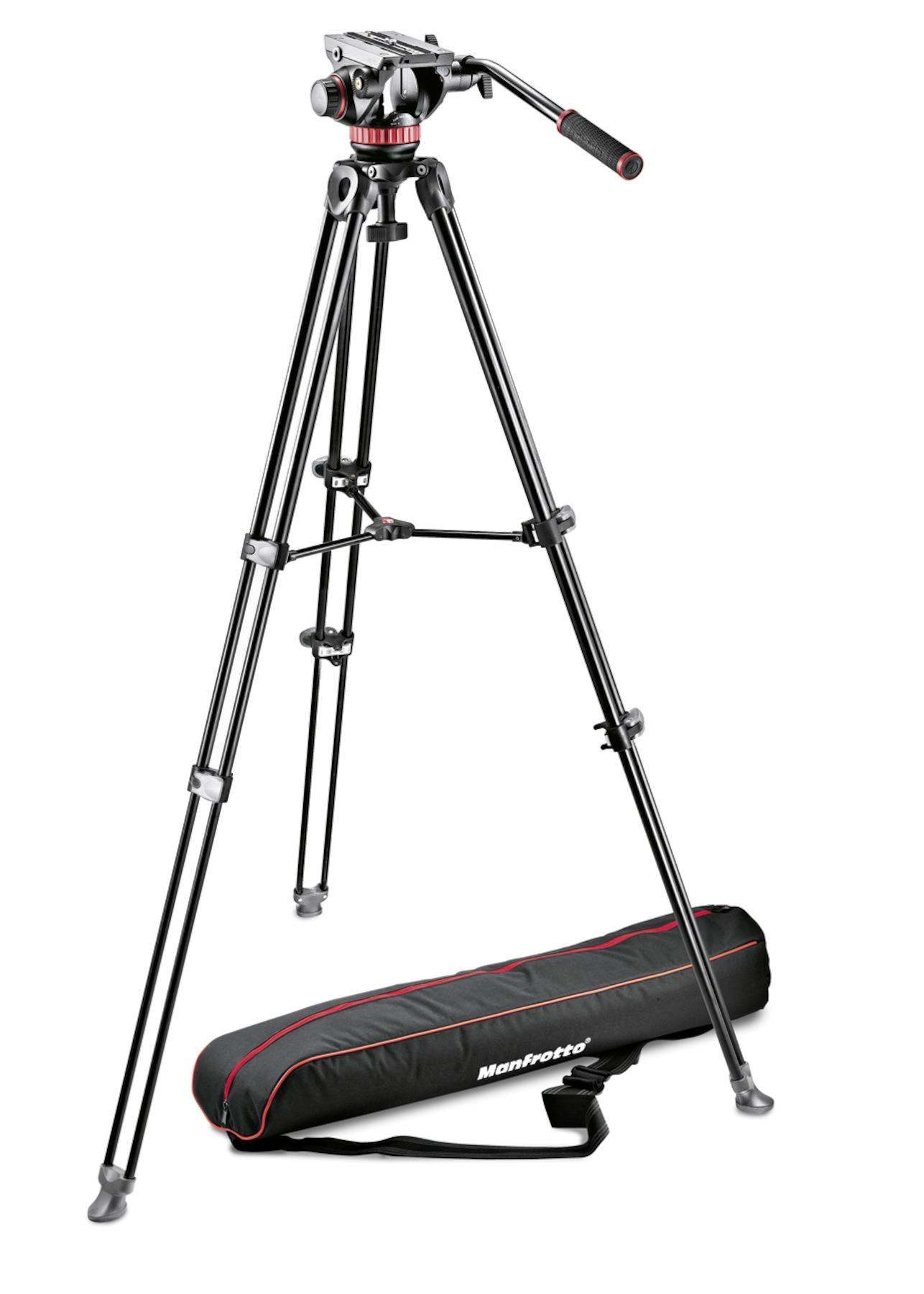 Manfrotto MVH502A Professional Fluid Video Tripod System with Aluminum Legs