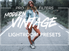 Pro Grade Filters modern vintage bundle with mobile presets