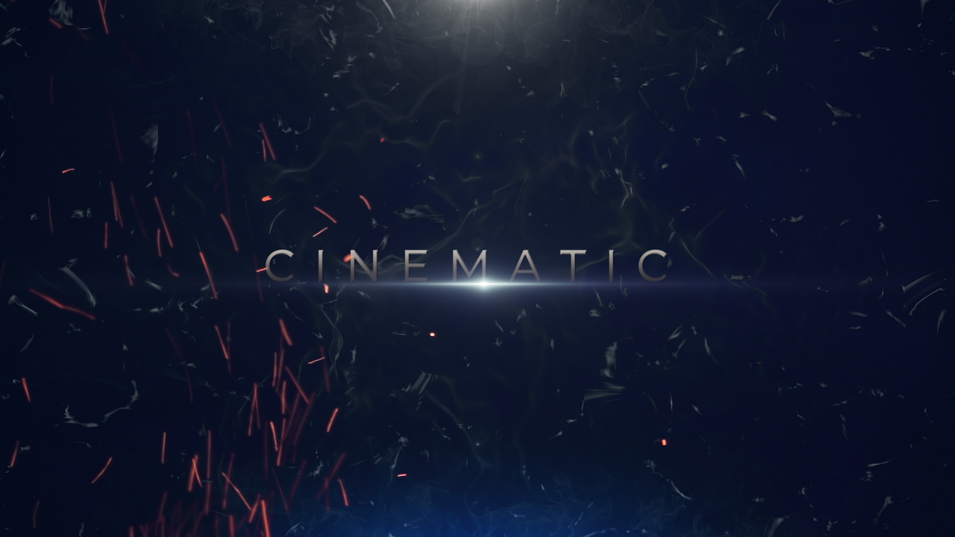 cinematic trailer with dust and flares