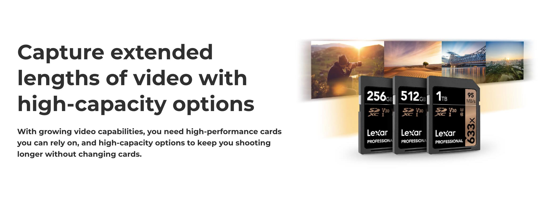 lexar high capacity sd cards