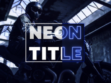 neon titles and lower thirds pack after effects