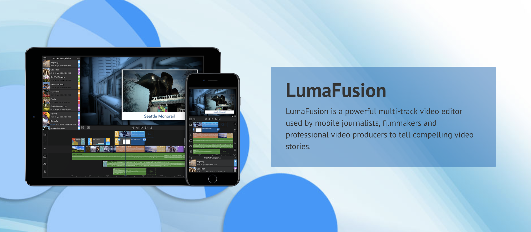 LumaFusion app for mobile video editing