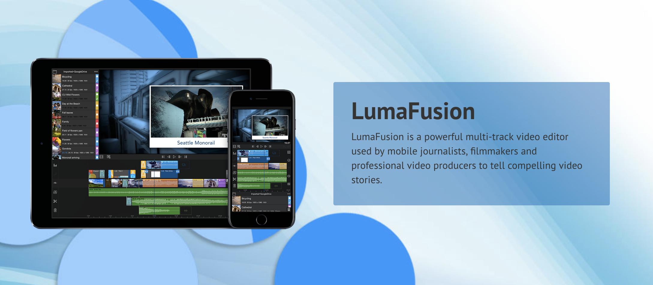 LumaFusion app for mobile video editing