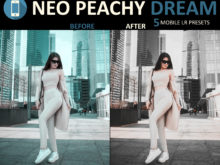 stylish neo peachy dream mobile filters