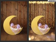 bokeh overlays newborn photography