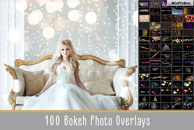 100 bokeh photo overlays bundle mixpixbox