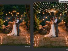 christmas lights photographer overlays
