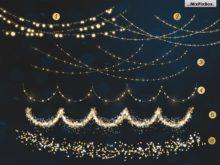 christmas lights bundle photo overlays