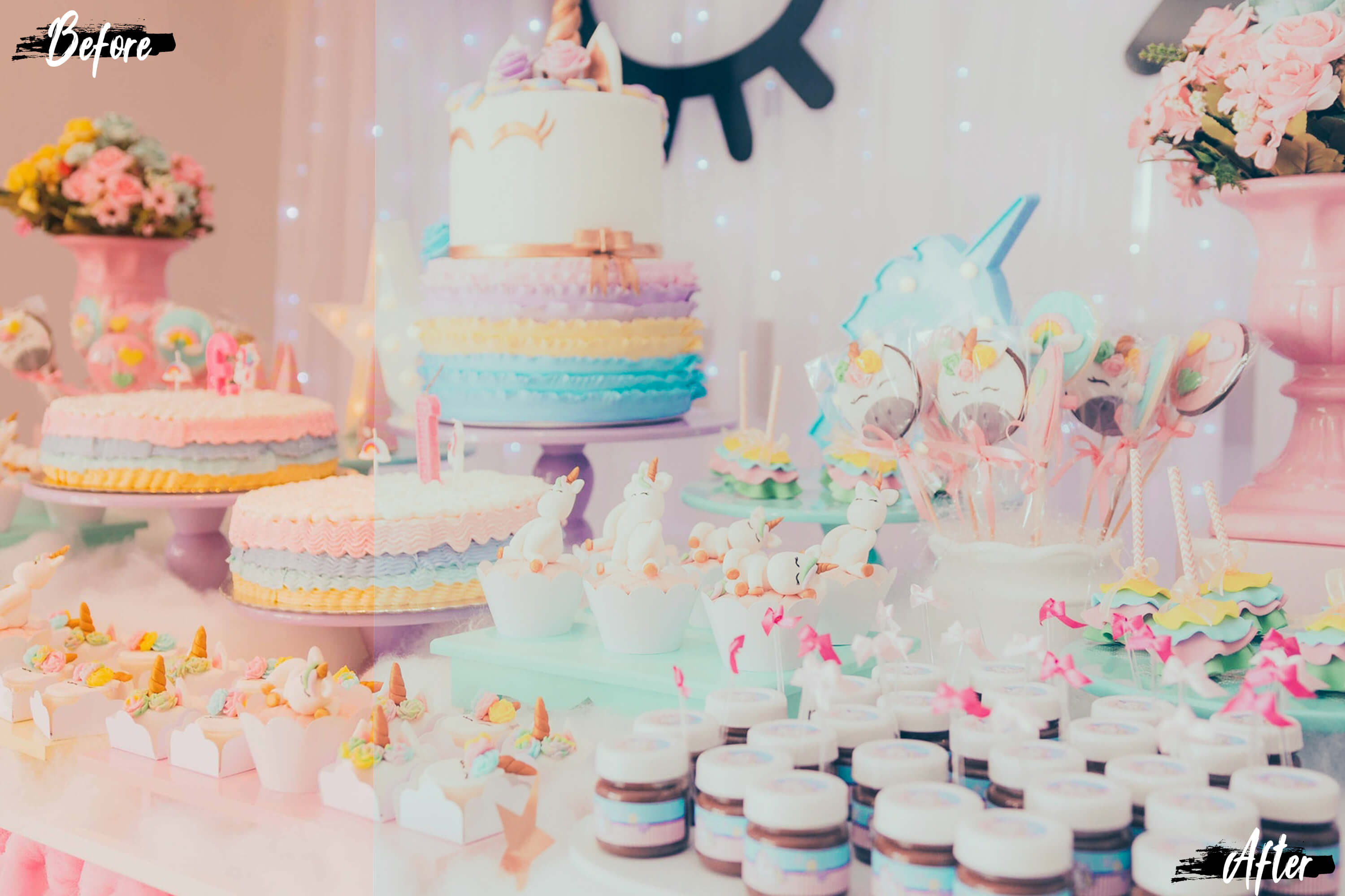 food pastel effects