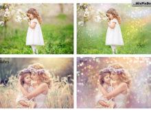 bokeh pastel photo overlays