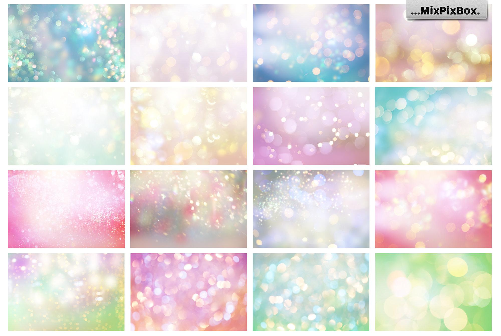 pastel digital backdrops with bokeh