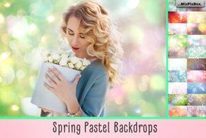 Spring Pastel Backdrops by MixPixBox