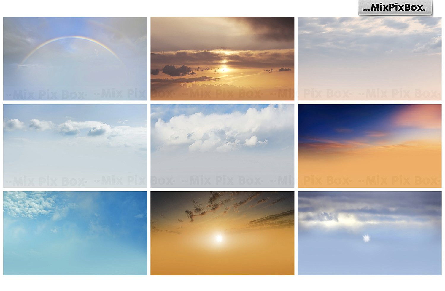 sky photo overlays bundle by MixPixBox