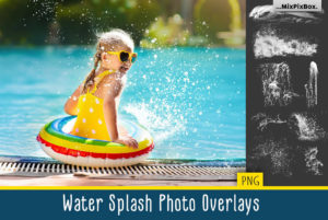 Water Splash Photo Overlays by MixPixBox