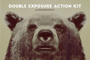 Krystal Creations Double Exposure Photoshop Actions Kit