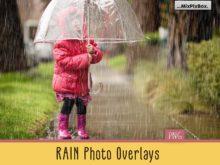 Realistic Rain Photo Overlays MixPixBox