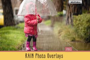 Realistic Rain Photo Overlays MixPixBox