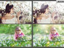 spring photo overlays flares