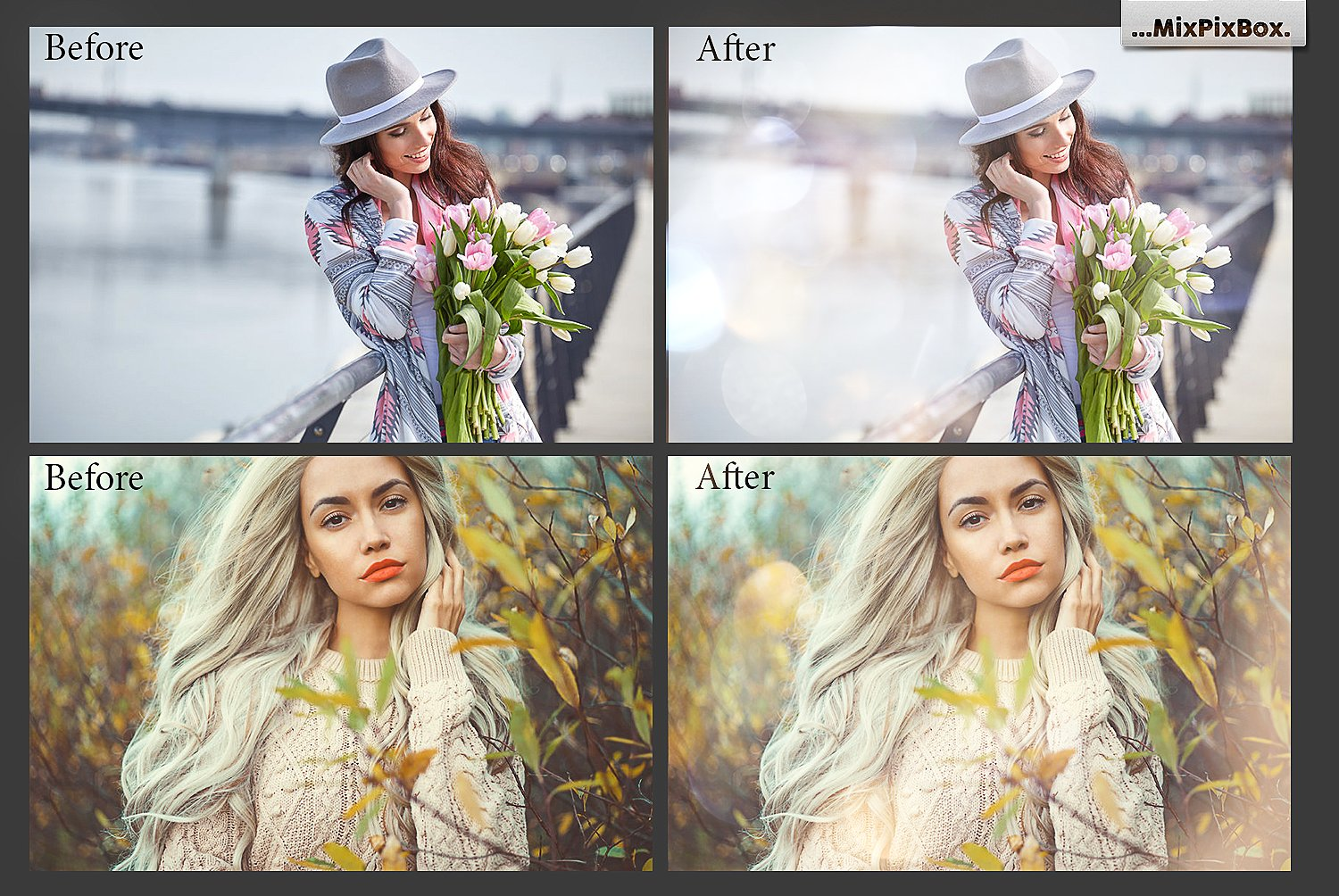spring sun flares effects and overlays