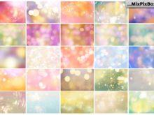 bokeh photo overlays summer theme