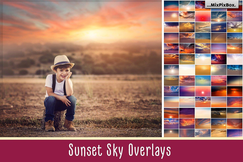 sunset sky overlays mixpixbox