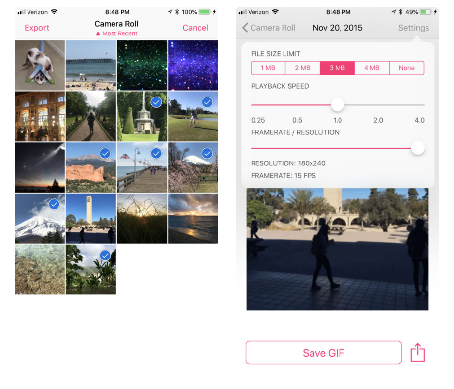 Convert live photo to video with sound