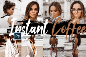 Neo Instant Coffee Color Grading PS Actions & LUTs Bundle