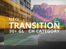 Neo Glitch Transitions After Effects Template from 3Motional
