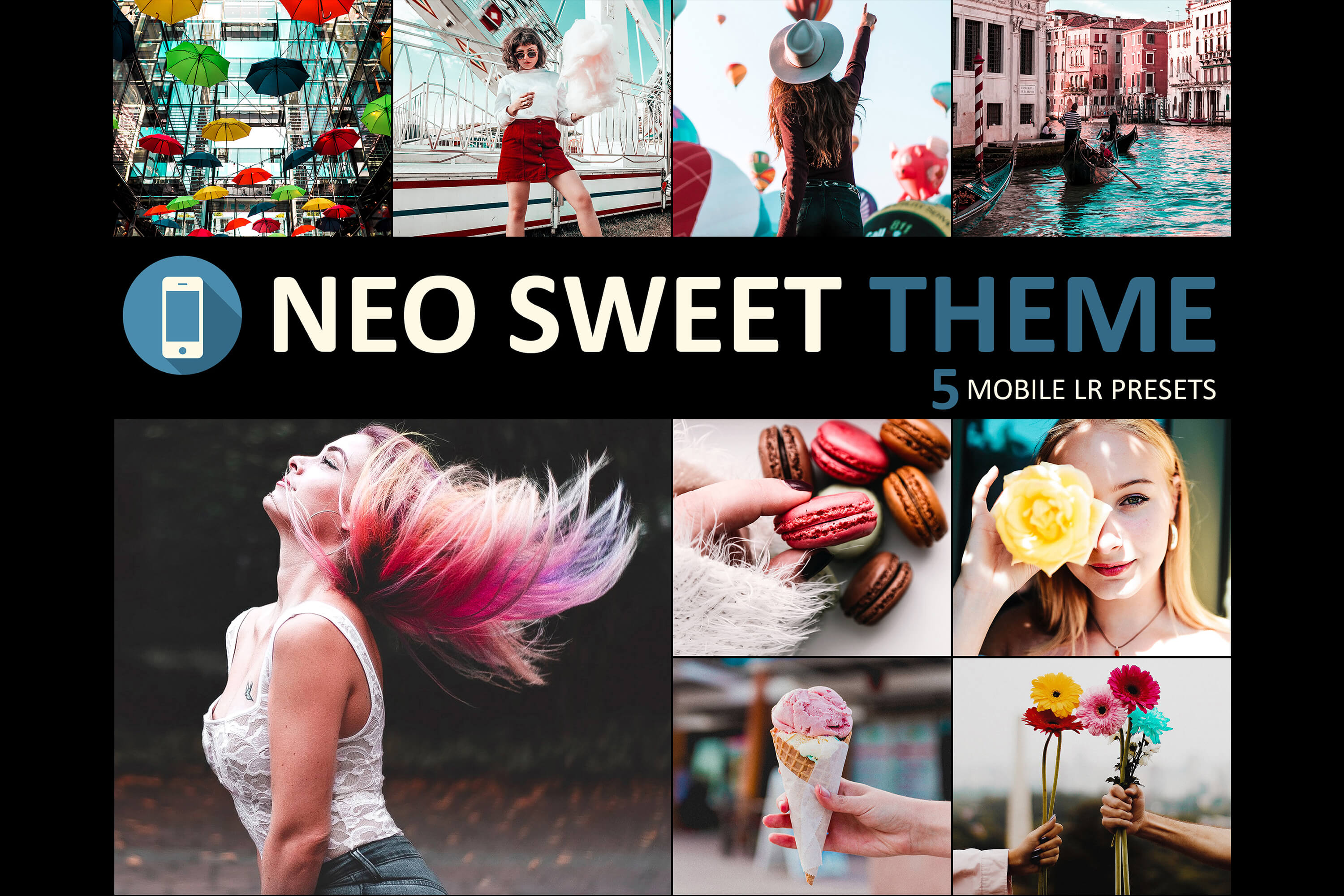 Neo Sweet Theme Mobile Lightroom Presets from 3Motional