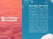 Sunday Brunch Lightroom Presets (Desktop + Mobile)