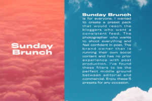 Sunday Brunch Lightroom Presets (Desktop + Mobile)