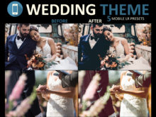 mobile presets for wedding photography