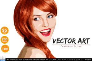Vector Art Painting - Photoshop Action