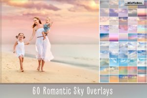 60 Romantic Sky Photo Overlays by MixPixBox
