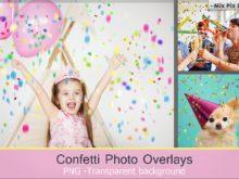 Confetti Overlays + Photoshop Brushes
